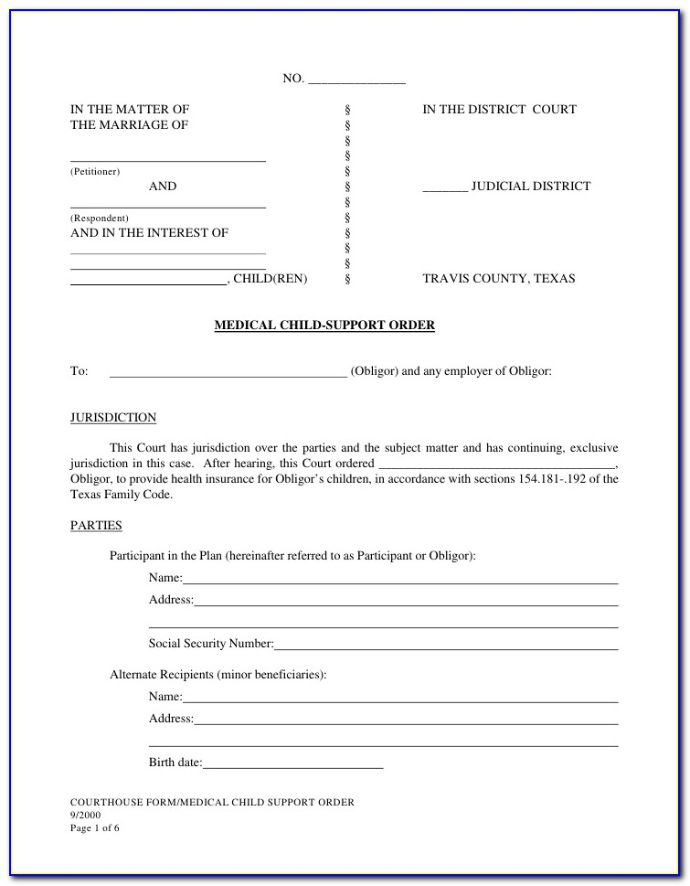 Travis County Divorce Filing Records