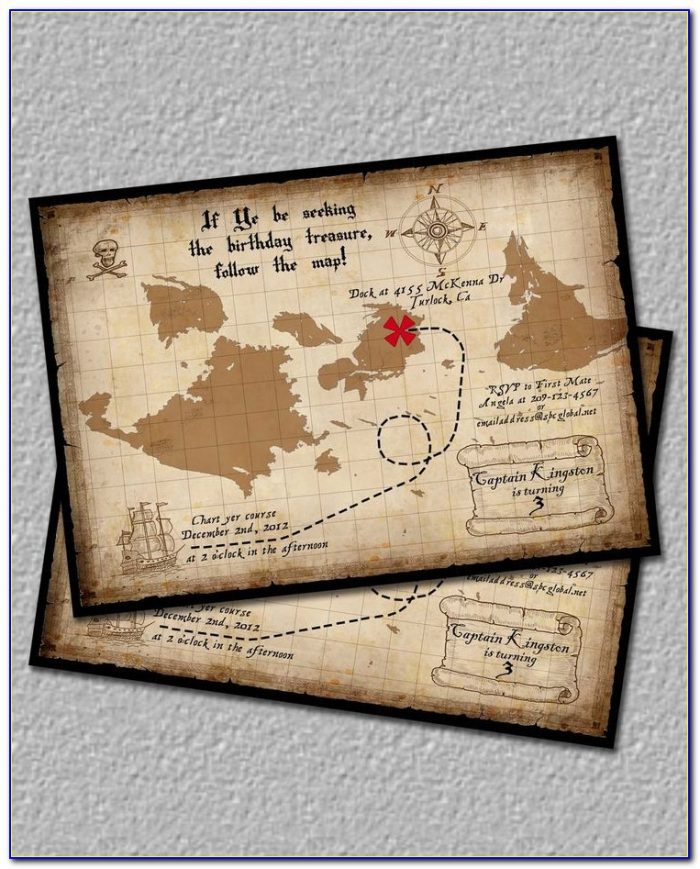 Treasure Map Invitations