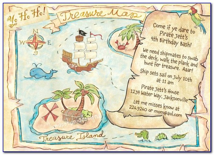Treasure Map Invitations Printable