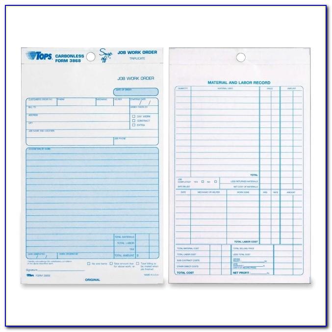 Triplicate Forms Printing