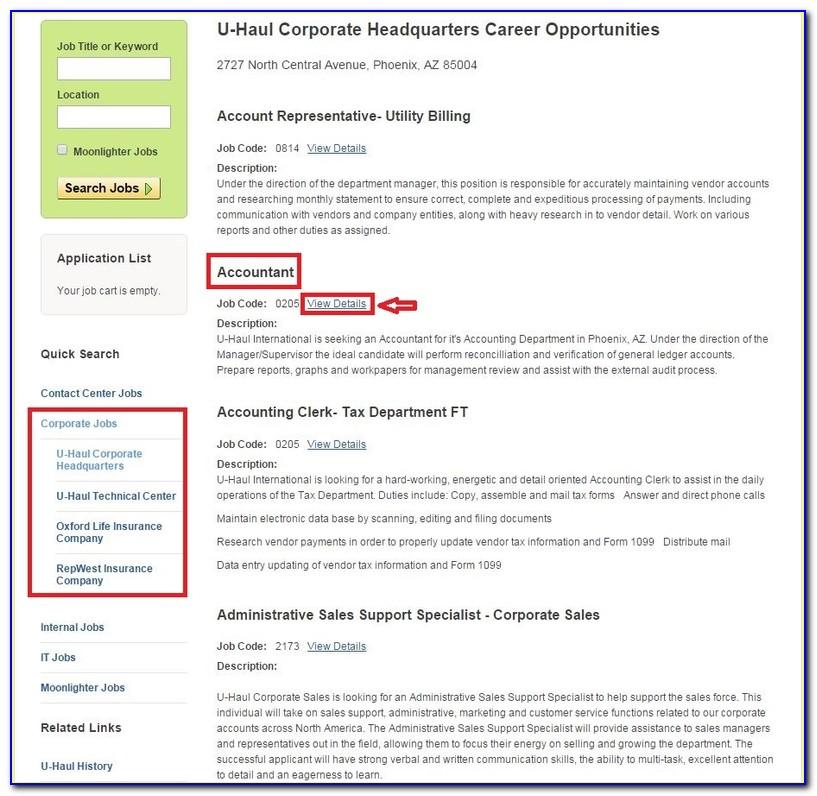 Uhaul Com Jobs Application
