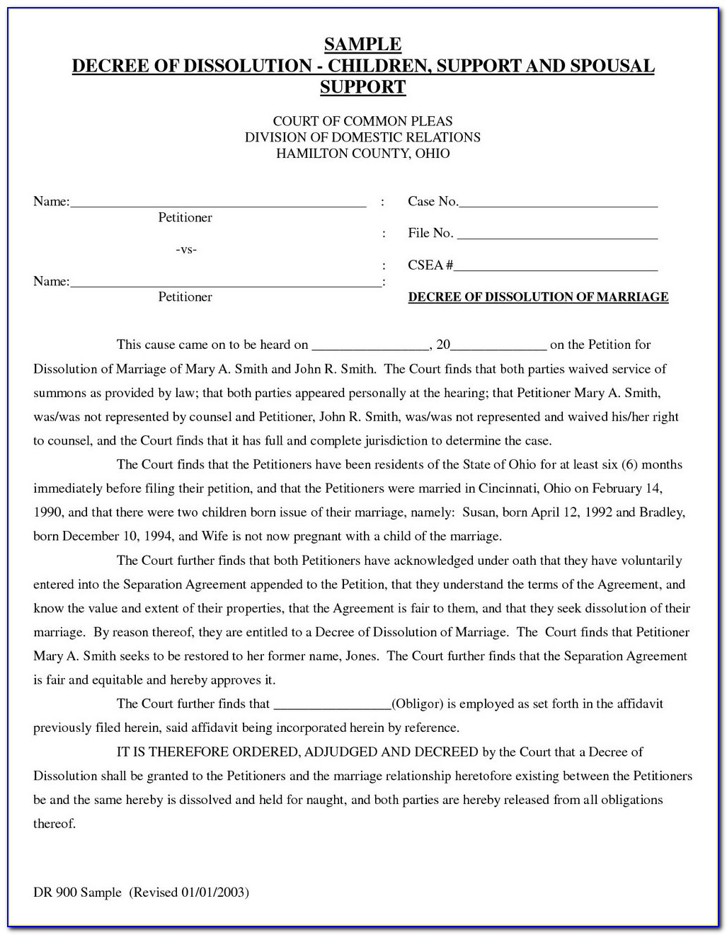 Uncontested Divorce Oklahoma Forms