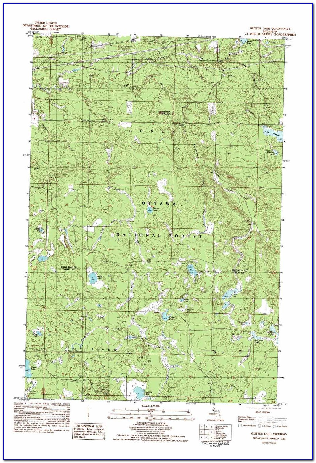 Union Lake Mi Topographic Map