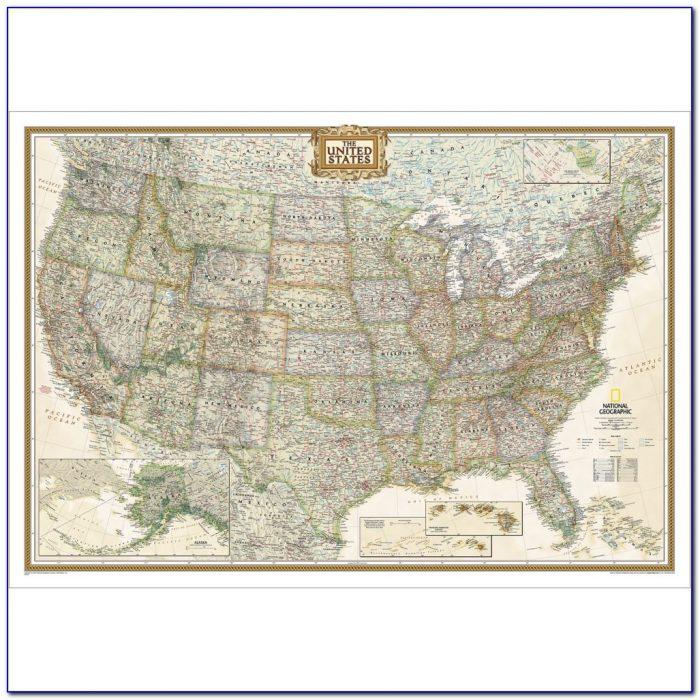 United States Wall Map Cork Board