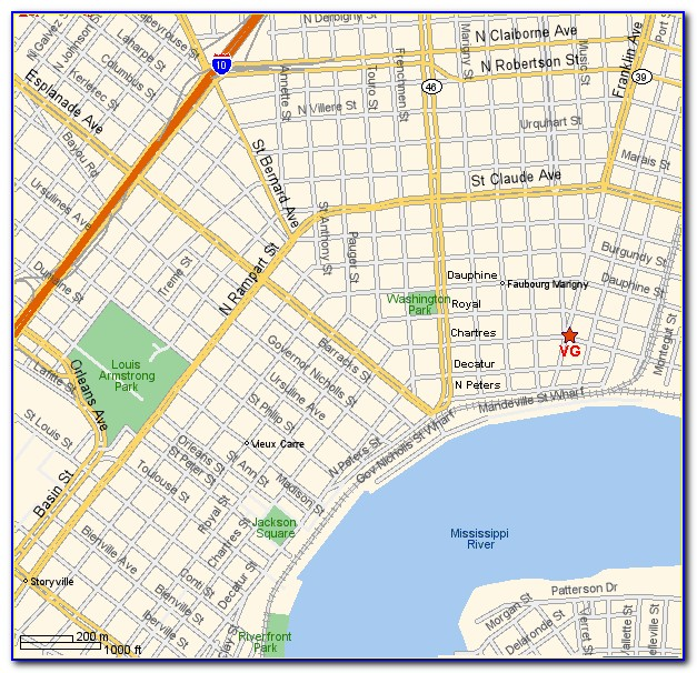 Uptown New Orleans Crime Map