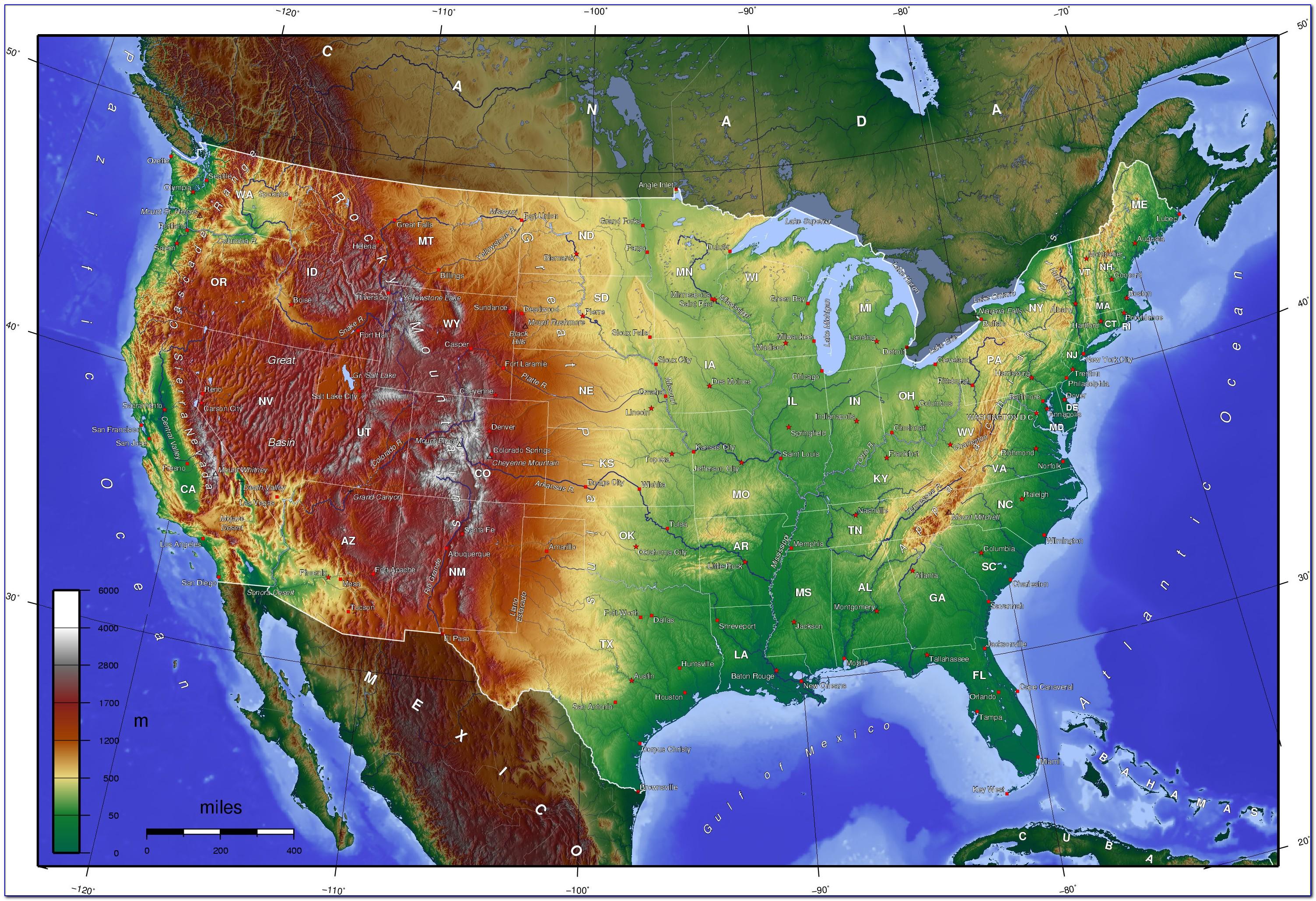 Us Topographic Map