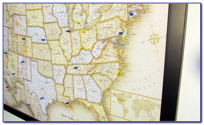 Usa Magnetic Pin Travel Map With Bonus 20 Pins