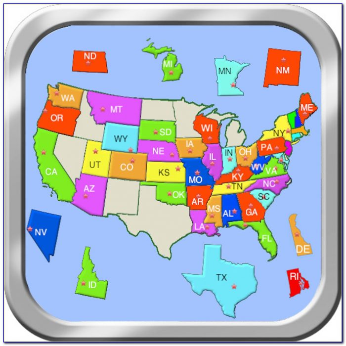 Usa Map Puzzle Games