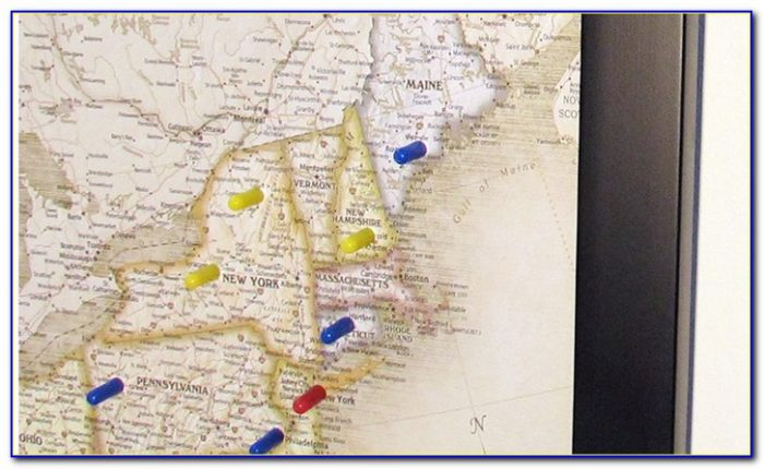 Usa Or World Magnetic Pin Travel Map