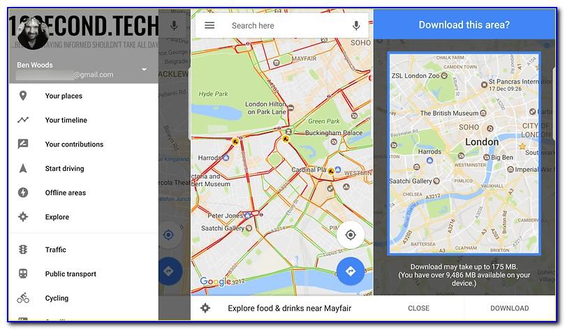 Use Google Maps Offline With Gps