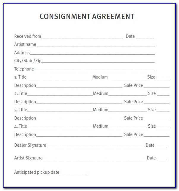 Utah Dealer Consignment Form