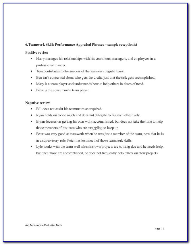 Veterinary Receptionist Evaluation Form