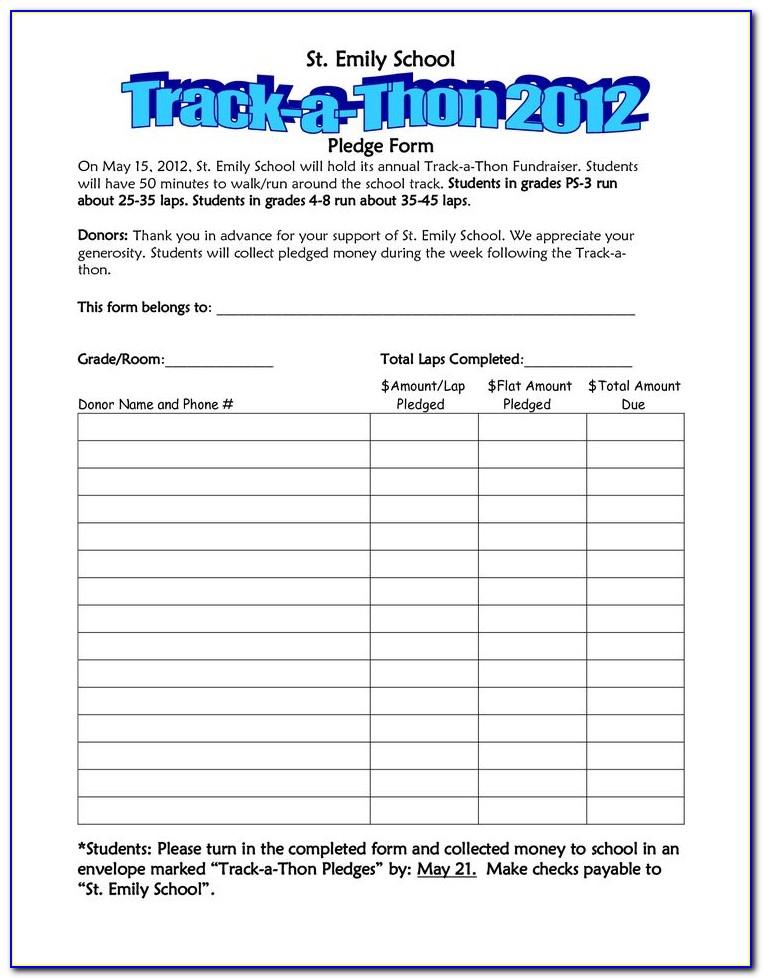Walk A Thon Registration Form