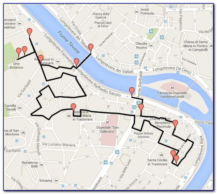 Walking Tour Map Of Rome