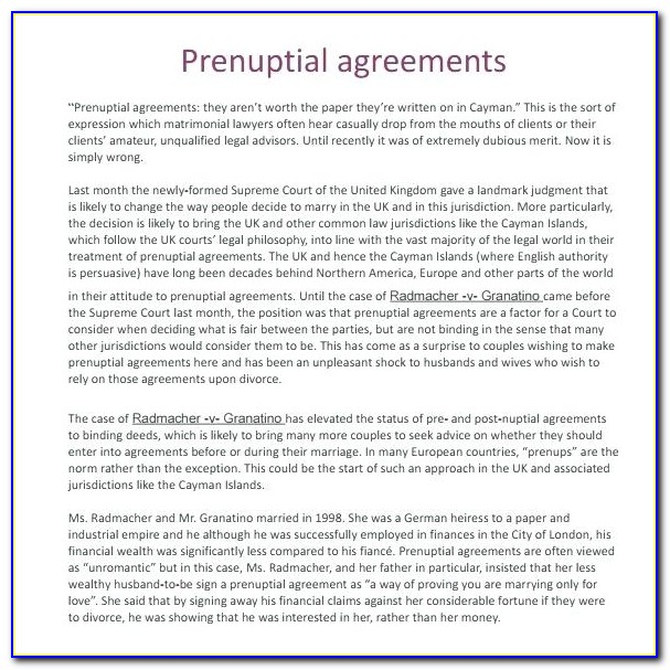 Washington State Prenuptial Agreement Form