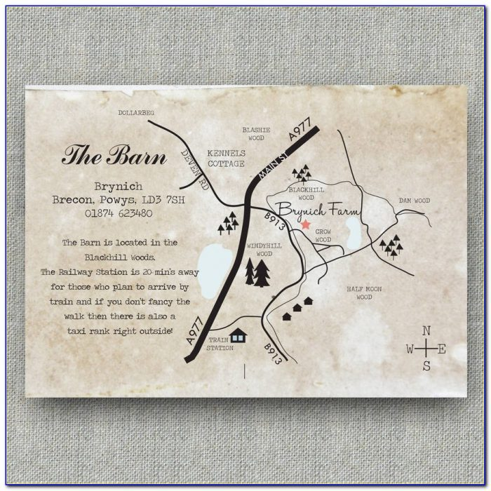 Wedding Invitation Map Template