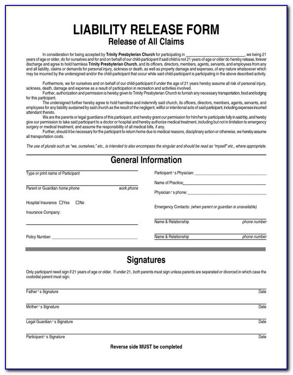 Wellcare Medicare Waiver Of Liability Form