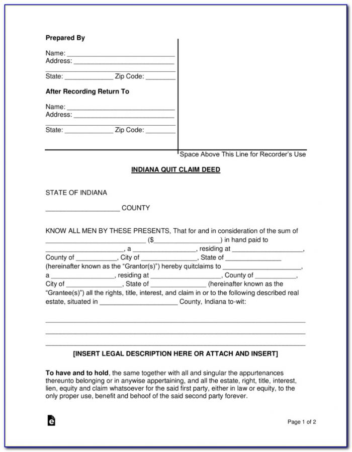 Where Can I Get A Quick Claim Deed Form