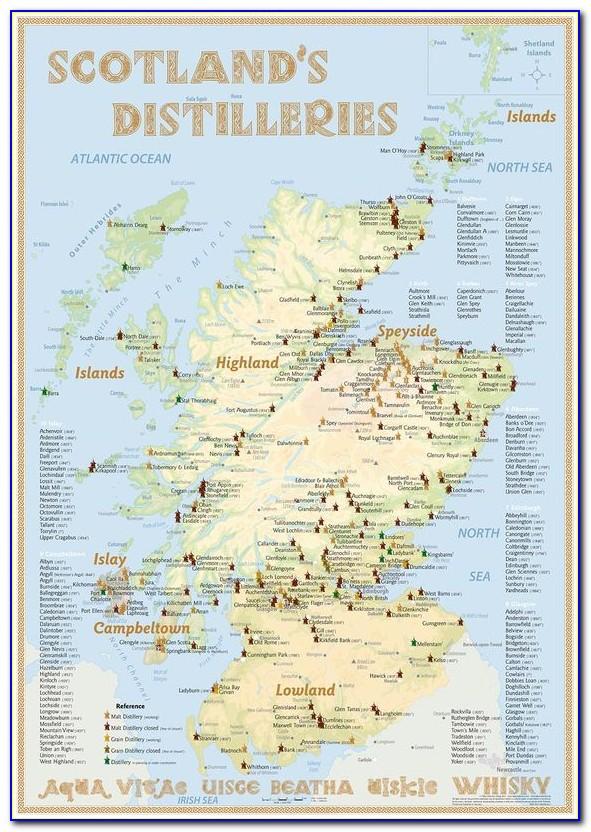 Whisky Distilleries Scotland Map