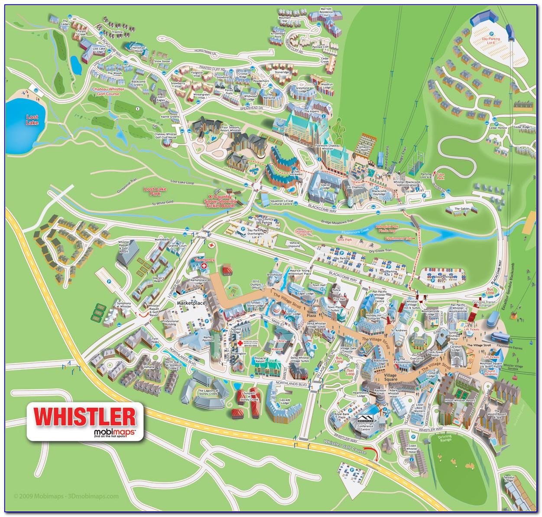 Whistler Village Hotel Map