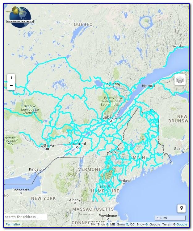Wi Snowmobile Trail Maps Gps