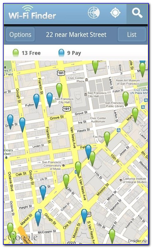 Wifi Locator Map