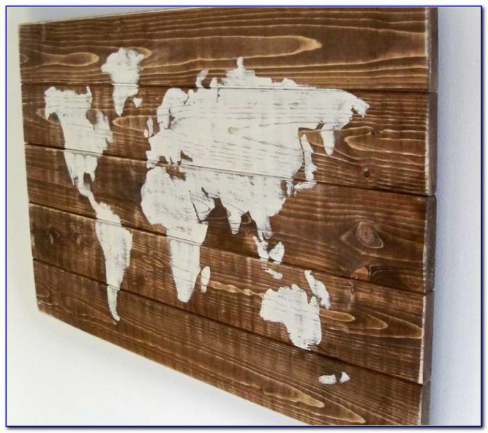 Wooden World Map Diy