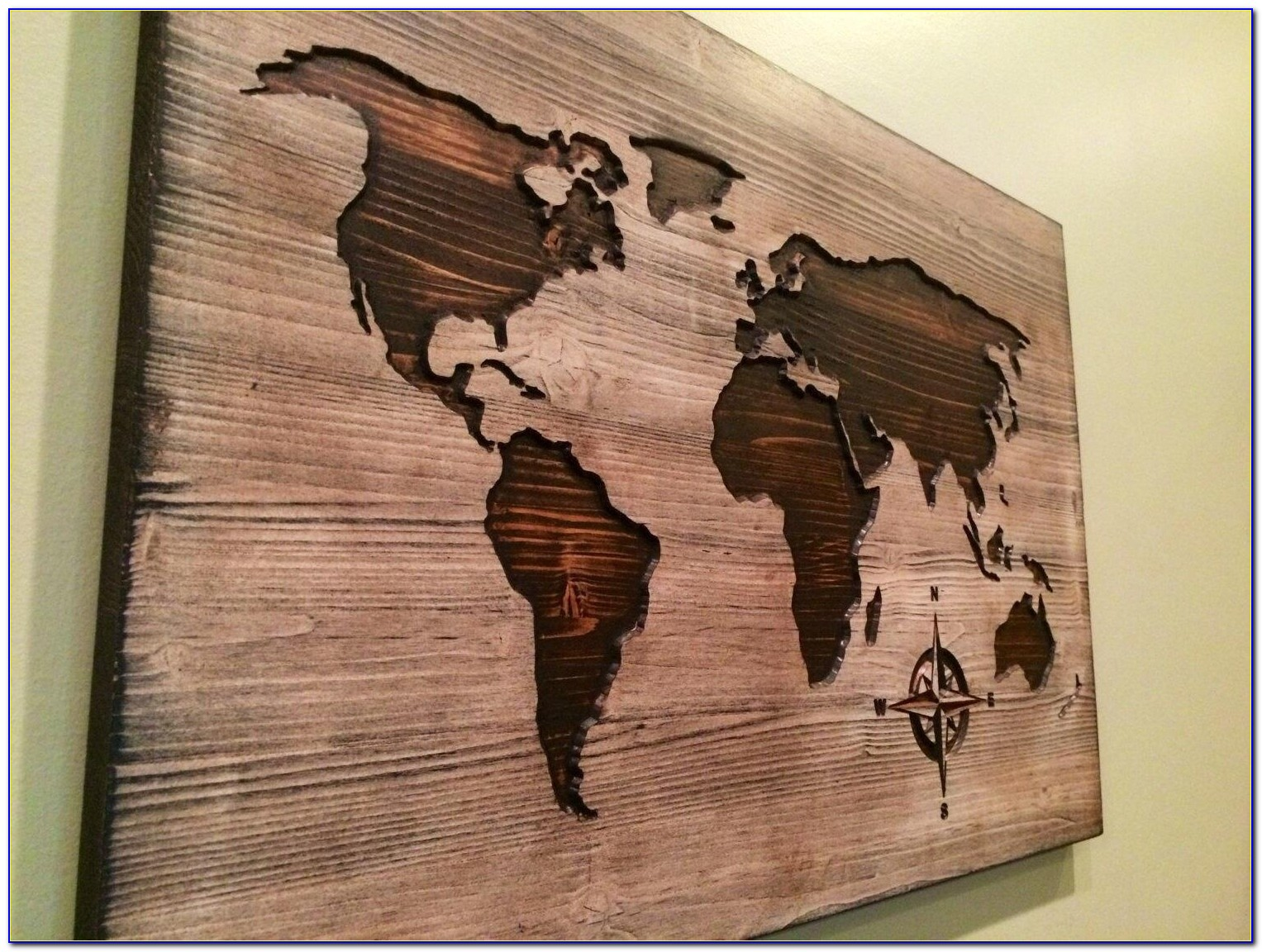 Carved Wooden World Map Wood Wall Art World Map Home Decor Throughout Wooden World Map Wall Art