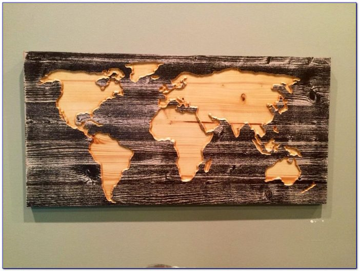 Carved Wooden World Map Wall Art World Map Home Decor World Pertaining To Wooden World Map Wall Art