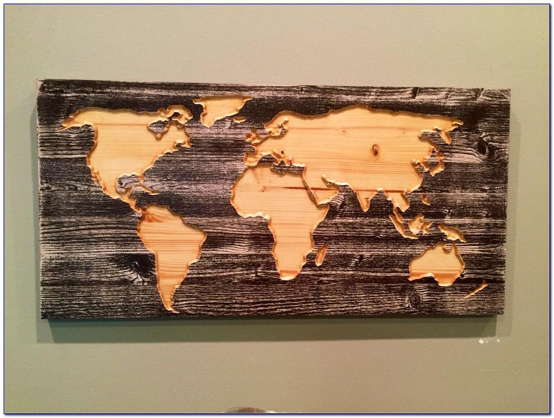 Carved Wooden World Map Wall Art World Map Home Decor World Pertaining To Wooden World Map Wall Art