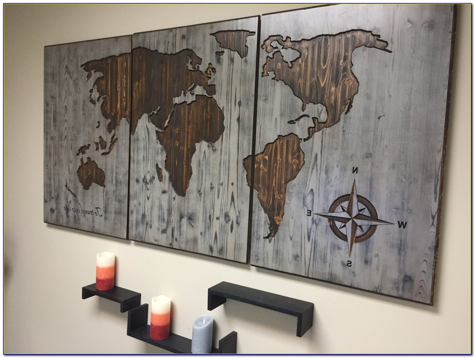 World Map Wood Wall Art Carved Custom Home Decor Wooden Inside For Latest Wooden World Map Wall Art