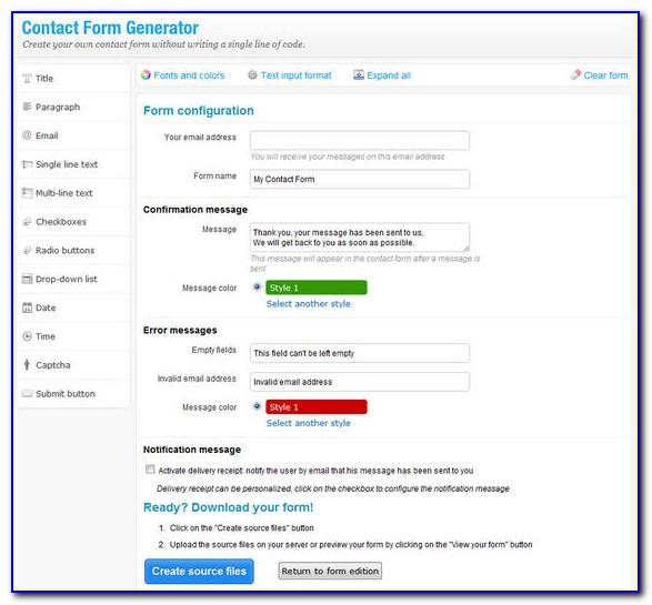 Wordpress Contact Form Builder Not Working
