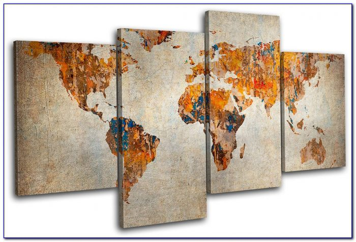 World Map Canvas Wall Art Uk