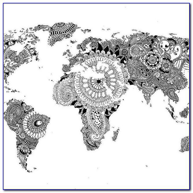 World Map Poster Mandala