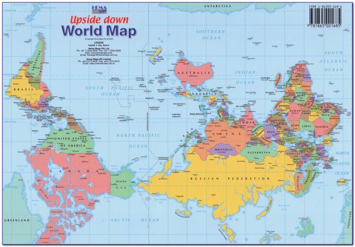 World Map Upside Down Australia
