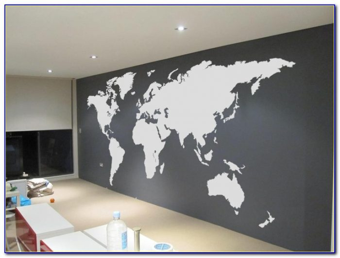 World Map Wall Decal Large