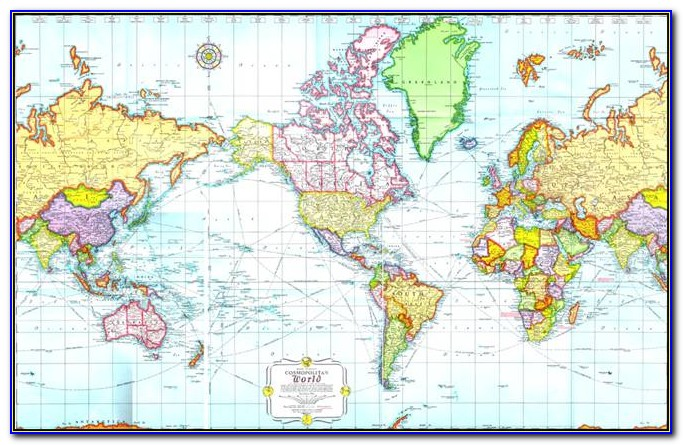 World Mercator Projection Map Worksheet