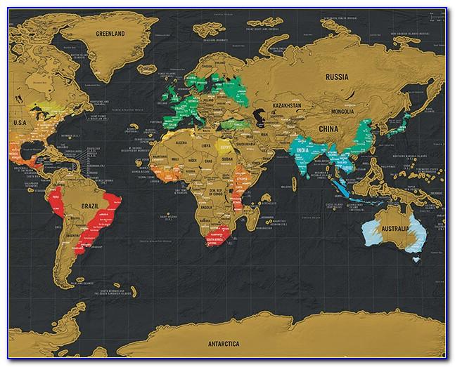 World Scratch Map Travel Edition