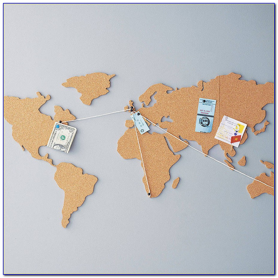 World Travel Map Pinboard App