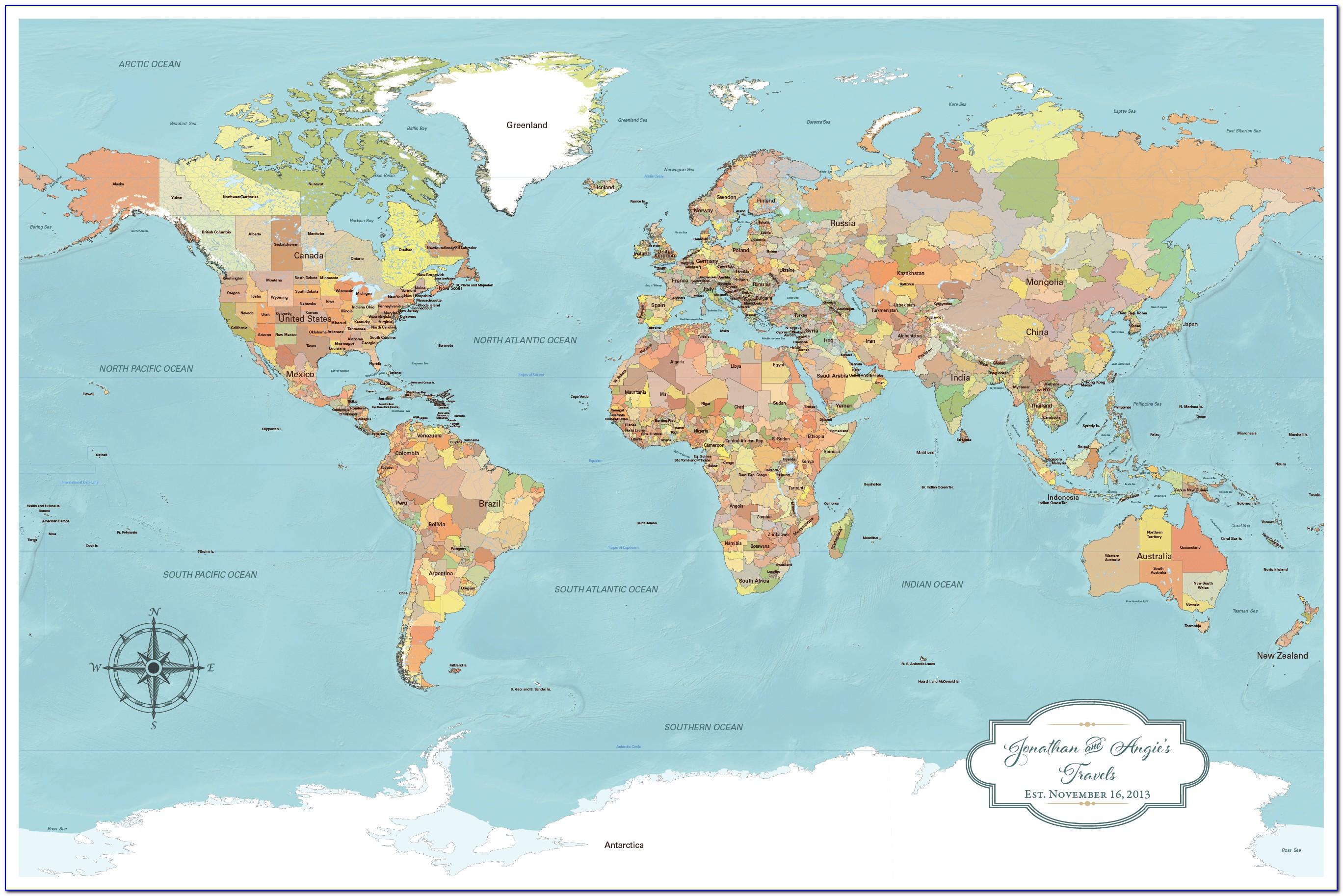 World Travel Map Push Pins Amazon