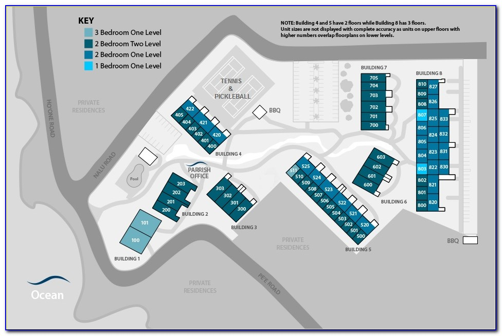 Wyndham Kauai Beach Villas Resort Map