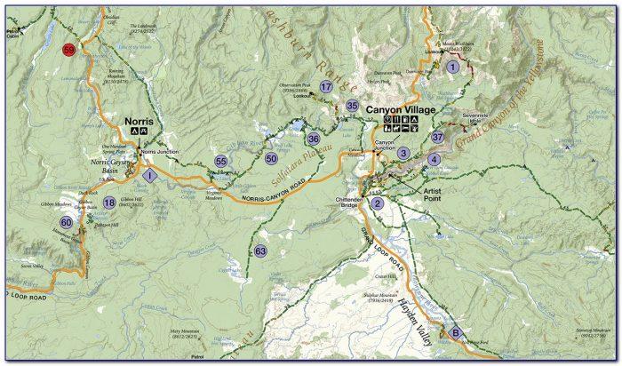 Yellowstone National Park Hiking Trail Maps