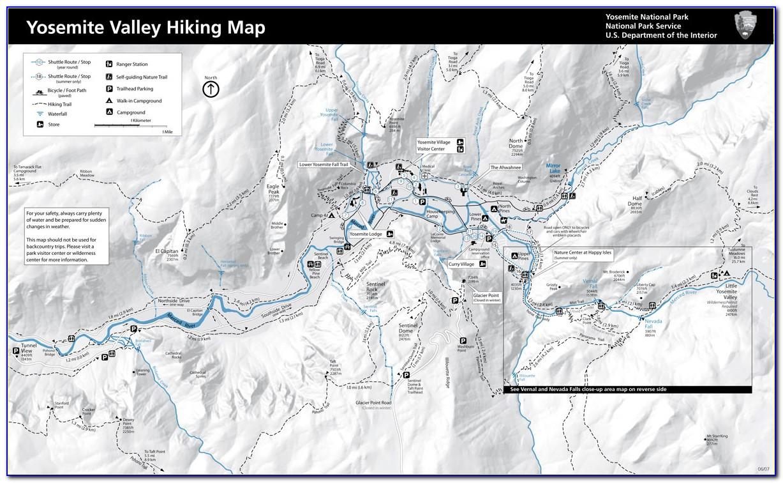Yosemite Hike Maps