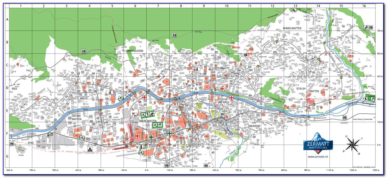Zermatt Accommodation Map