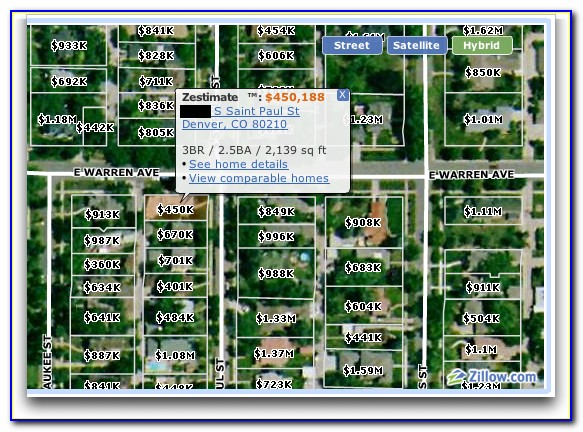 Zillow Home Value Map