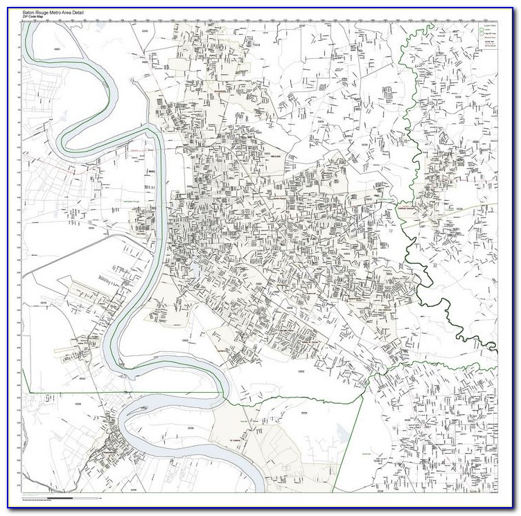 Zip Code Map Of Baton Rouge La