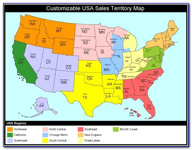 Zip Code Territory Map
