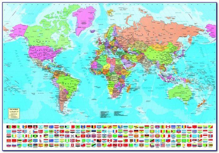 1000 Piece Jigsaw Puzzle World Map