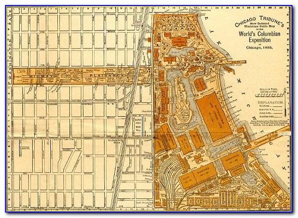 1893 Chicago World Fair Interactive Map