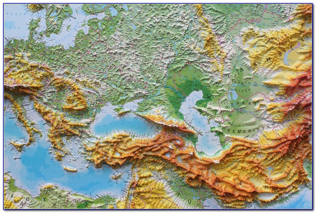 3d Relief Map Alps